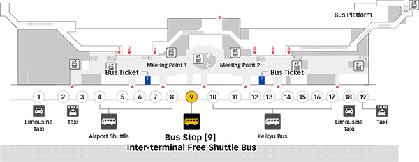 HanedaAirport Bus StopTerminal 2